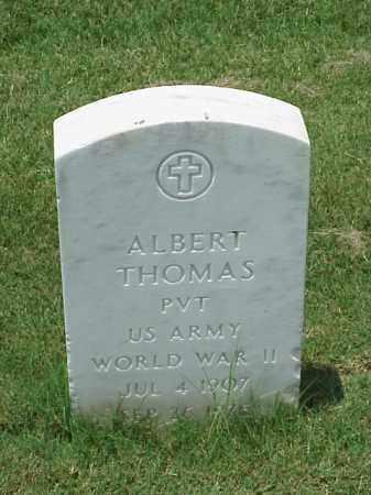THOMAS (VETERAN WWII), ALBERT - Pulaski County, Arkansas | ALBERT THOMAS (VETERAN WWII) - Arkansas Gravestone Photos