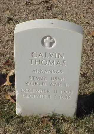 THOMAS (VETERAN WWII), CALVIN - Pulaski County, Arkansas | CALVIN THOMAS (VETERAN WWII) - Arkansas Gravestone Photos