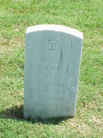 THOMAS (VETERAN WWII), IVORY - Pulaski County, Arkansas | IVORY THOMAS (VETERAN WWII) - Arkansas Gravestone Photos