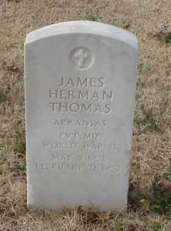 THOMAS (VETERAN WWII), JAMES HERMAN - Pulaski County, Arkansas | JAMES HERMAN THOMAS (VETERAN WWII) - Arkansas Gravestone Photos