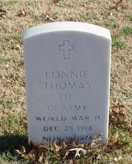 THOMAS (VETERAN WWII), LONNIE - Pulaski County, Arkansas   LONNIE THOMAS (VETERAN WWII) - Arkansas Gravestone Photos