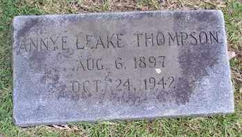 LEAKE THOMPSON, ANNYE - Pulaski County, Arkansas   ANNYE LEAKE THOMPSON - Arkansas Gravestone Photos