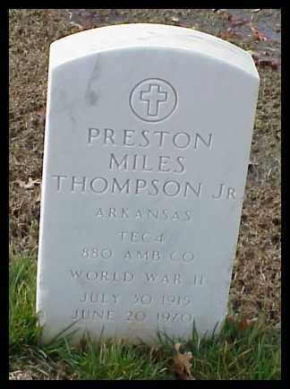 THOMPSON, JR (VETERAN WWII), PRESTON MILES - Pulaski County, Arkansas   PRESTON MILES THOMPSON, JR (VETERAN WWII) - Arkansas Gravestone Photos