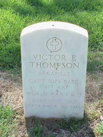 THOMPSON (VETERAN 2 WARS), VICTOR E - Pulaski County, Arkansas   VICTOR E THOMPSON (VETERAN 2 WARS) - Arkansas Gravestone Photos