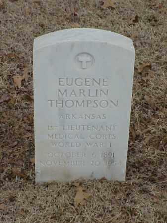 THOMPSON (VETERAN WWI), EUGENE MARLIN - Pulaski County, Arkansas | EUGENE MARLIN THOMPSON (VETERAN WWI) - Arkansas Gravestone Photos