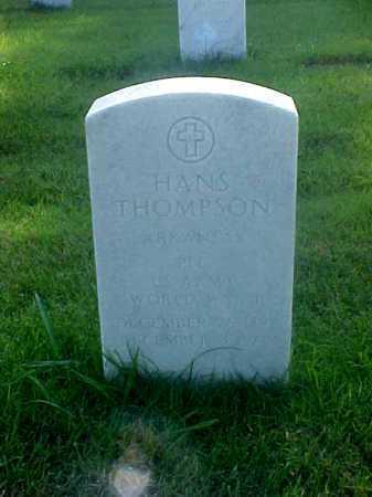 THOMPSON (VETERAN WWI), HANS - Pulaski County, Arkansas | HANS THOMPSON (VETERAN WWI) - Arkansas Gravestone Photos