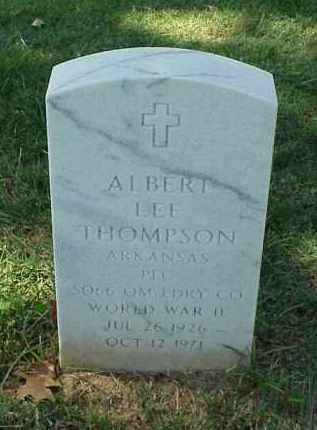 THOMPSON (VETERAN WWII), ALBERT LEE - Pulaski County, Arkansas   ALBERT LEE THOMPSON (VETERAN WWII) - Arkansas Gravestone Photos