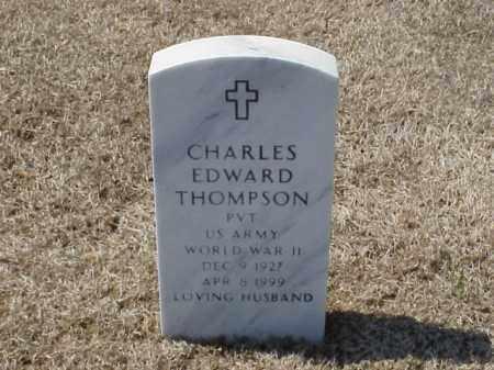 THOMPSON (VETERAN WWII), CHARLES EDWARD - Pulaski County, Arkansas | CHARLES EDWARD THOMPSON (VETERAN WWII) - Arkansas Gravestone Photos