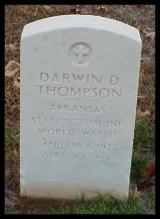 THOMPSON (VETERAN WWII), DARWIN D - Pulaski County, Arkansas | DARWIN D THOMPSON (VETERAN WWII) - Arkansas Gravestone Photos