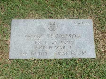 THOMPSON (VETERAN WWII), EMERY - Pulaski County, Arkansas   EMERY THOMPSON (VETERAN WWII) - Arkansas Gravestone Photos