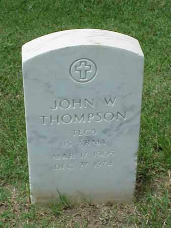 THOMPSON (VETERAN WWII), JOHN W - Pulaski County, Arkansas | JOHN W THOMPSON (VETERAN WWII) - Arkansas Gravestone Photos