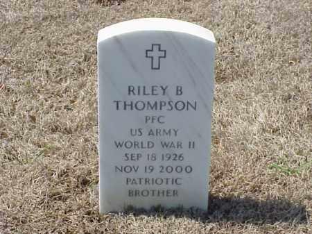 THOMPSON (VETERAN WWII), RILEY B - Pulaski County, Arkansas | RILEY B THOMPSON (VETERAN WWII) - Arkansas Gravestone Photos