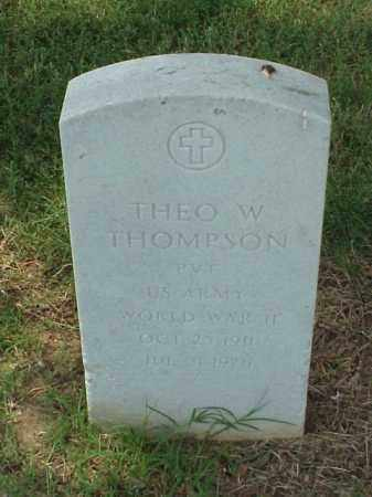 THOMPSON (VETERAN WWII), THEO W - Pulaski County, Arkansas | THEO W THOMPSON (VETERAN WWII) - Arkansas Gravestone Photos