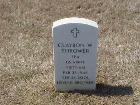 THROWER (VETERAN VIET), CLAYBON W - Pulaski County, Arkansas | CLAYBON W THROWER (VETERAN VIET) - Arkansas Gravestone Photos