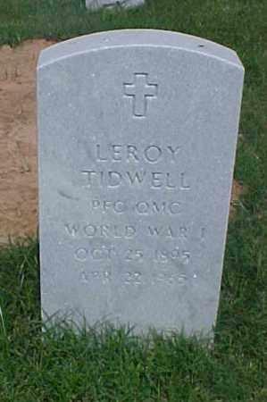 TIDWELL (VETERAN WWI), LEROY - Pulaski County, Arkansas | LEROY TIDWELL (VETERAN WWI) - Arkansas Gravestone Photos