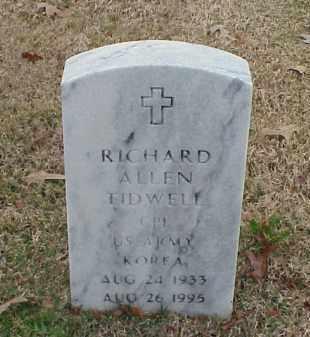 TIDWELL (VETERAN KOR), RICHARD ALLEN - Pulaski County, Arkansas   RICHARD ALLEN TIDWELL (VETERAN KOR) - Arkansas Gravestone Photos