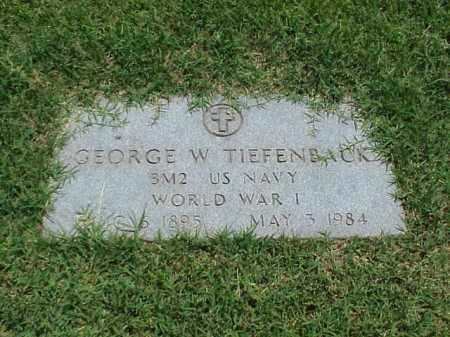 TIEFENBACK (VETERAN WWI), GEORGE W - Pulaski County, Arkansas | GEORGE W TIEFENBACK (VETERAN WWI) - Arkansas Gravestone Photos
