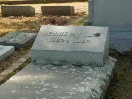 TILLAR, JENNIE G - Pulaski County, Arkansas | JENNIE G TILLAR - Arkansas Gravestone Photos