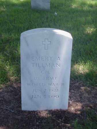 TILLMAN (VETERAN WWII), EMERY A - Pulaski County, Arkansas | EMERY A TILLMAN (VETERAN WWII) - Arkansas Gravestone Photos