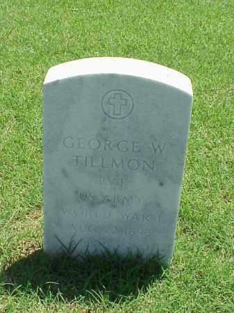 TILLMON (VETERAN WWI), GEORGE W - Pulaski County, Arkansas | GEORGE W TILLMON (VETERAN WWI) - Arkansas Gravestone Photos