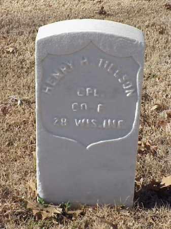 TILLSON (VETERAN UNION), HENRY H - Pulaski County, Arkansas   HENRY H TILLSON (VETERAN UNION) - Arkansas Gravestone Photos