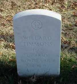 TIMMONS (VETERAN WWII), WILLARD - Pulaski County, Arkansas | WILLARD TIMMONS (VETERAN WWII) - Arkansas Gravestone Photos