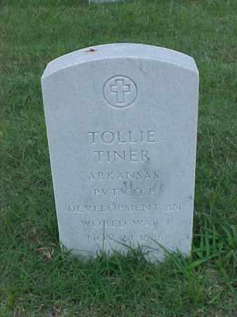 TINER (VETERAN WWI), TOLLIE - Pulaski County, Arkansas | TOLLIE TINER (VETERAN WWI) - Arkansas Gravestone Photos