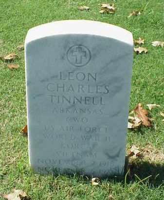 TINNELL (VETERAN 3 WARS), LEON CHARLES - Pulaski County, Arkansas   LEON CHARLES TINNELL (VETERAN 3 WARS) - Arkansas Gravestone Photos