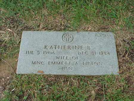 TIPTON, KATHERINE B - Pulaski County, Arkansas | KATHERINE B TIPTON - Arkansas Gravestone Photos