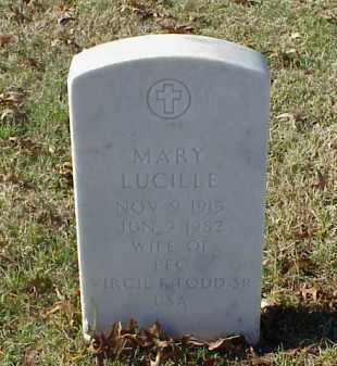 TODD, MARY LUCILLE - Pulaski County, Arkansas | MARY LUCILLE TODD - Arkansas Gravestone Photos