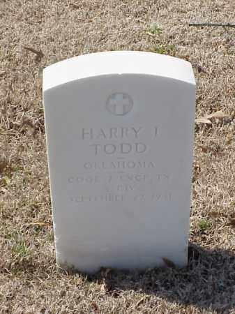 TODD (VETERAN WWI), HARRY I - Pulaski County, Arkansas | HARRY I TODD (VETERAN WWI) - Arkansas Gravestone Photos