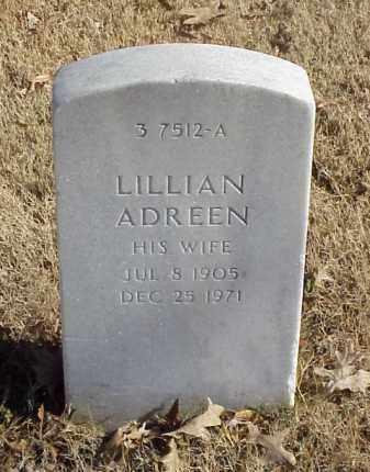 TOLER, LILLIAN ADREEN - Pulaski County, Arkansas | LILLIAN ADREEN TOLER - Arkansas Gravestone Photos