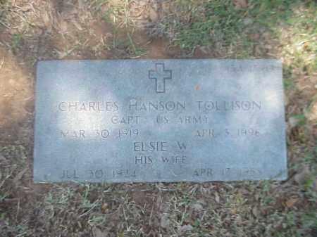 TOLLISON, ELSIE W - Pulaski County, Arkansas | ELSIE W TOLLISON - Arkansas Gravestone Photos