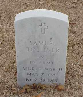 TOLLIVER  (VETERAN WWII), SAMUEL - Pulaski County, Arkansas   SAMUEL TOLLIVER  (VETERAN WWII) - Arkansas Gravestone Photos