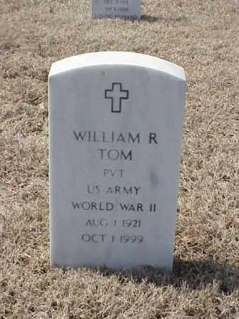 TOM (VETERAN WWII), WILLIAM R - Pulaski County, Arkansas   WILLIAM R TOM (VETERAN WWII) - Arkansas Gravestone Photos