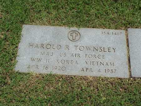 TOWNSLEY (VETERAN 3 WARS), HAROLD R - Pulaski County, Arkansas   HAROLD R TOWNSLEY (VETERAN 3 WARS) - Arkansas Gravestone Photos