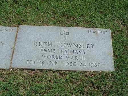 TOWNSLEY (VETERAN WWII), RUTH - Pulaski County, Arkansas | RUTH TOWNSLEY (VETERAN WWII) - Arkansas Gravestone Photos