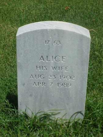TRAIL, ALICE - Pulaski County, Arkansas   ALICE TRAIL - Arkansas Gravestone Photos