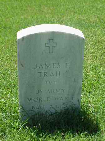 TRAIL (VETERAN WWI), JAMES F - Pulaski County, Arkansas | JAMES F TRAIL (VETERAN WWI) - Arkansas Gravestone Photos