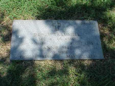 TRAMMELL (VETERAN WWII), DEWEY - Pulaski County, Arkansas   DEWEY TRAMMELL (VETERAN WWII) - Arkansas Gravestone Photos