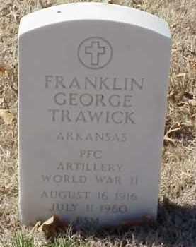 TRAWICK  (VETERAN WWII), FRANKLIN GEORGE - Pulaski County, Arkansas   FRANKLIN GEORGE TRAWICK  (VETERAN WWII) - Arkansas Gravestone Photos