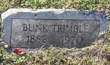 TRIMBLE, BUNK - Pulaski County, Arkansas   BUNK TRIMBLE - Arkansas Gravestone Photos