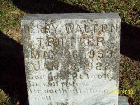 TROTTER, BARRY WALTON - Pulaski County, Arkansas | BARRY WALTON TROTTER - Arkansas Gravestone Photos