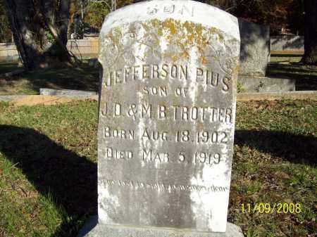 TROTTER, JEFFERSON PIUS - Pulaski County, Arkansas | JEFFERSON PIUS TROTTER - Arkansas Gravestone Photos