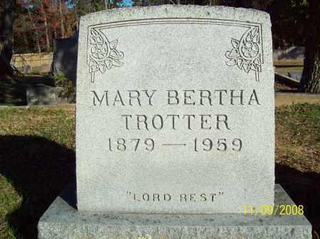 HARRELL TROTTER, MARY BERTHA - Pulaski County, Arkansas | MARY BERTHA HARRELL TROTTER - Arkansas Gravestone Photos