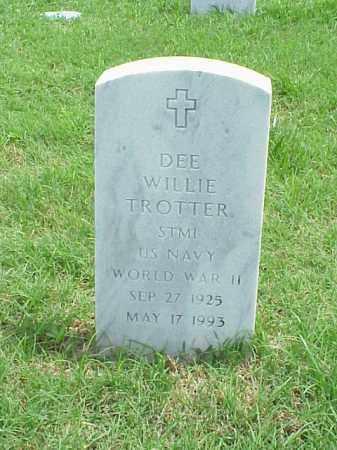 TROTTER (VETERAN WWII)), DEE WILLIE - Pulaski County, Arkansas   DEE WILLIE TROTTER (VETERAN WWII)) - Arkansas Gravestone Photos
