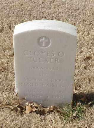 TUCKER (VETERAN 2 WARS), CLOYES O - Pulaski County, Arkansas   CLOYES O TUCKER (VETERAN 2 WARS) - Arkansas Gravestone Photos