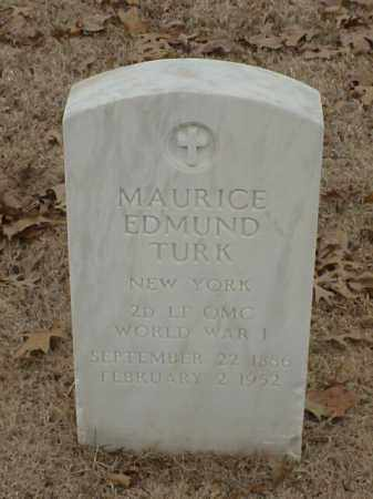 TURK (VETERAN WWI), MAURICE EDMUND - Pulaski County, Arkansas | MAURICE EDMUND TURK (VETERAN WWI) - Arkansas Gravestone Photos