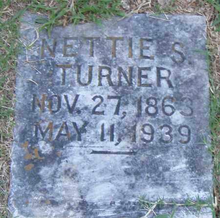 TURNER, NETTIE S. - Pulaski County, Arkansas | NETTIE S. TURNER - Arkansas Gravestone Photos