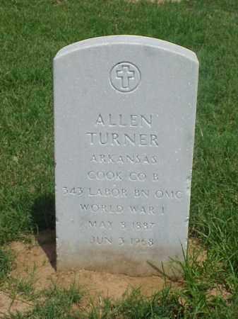 TURNER (VETERAN WWI), ALLEN - Pulaski County, Arkansas   ALLEN TURNER (VETERAN WWI) - Arkansas Gravestone Photos
